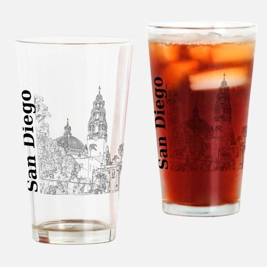 SanDiego_10x10_CaliforniaTower_SD_V Drinking Glass