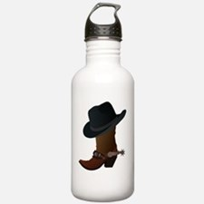 Cowboy boot and hat Water Bottle