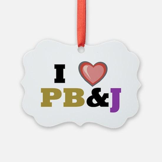 I heart pbj Ornament