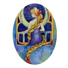 repunzel Oval Ornament