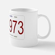 1973platewhitetext Mug