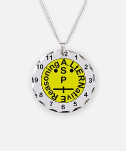 ASPIE Clock Face Necklace