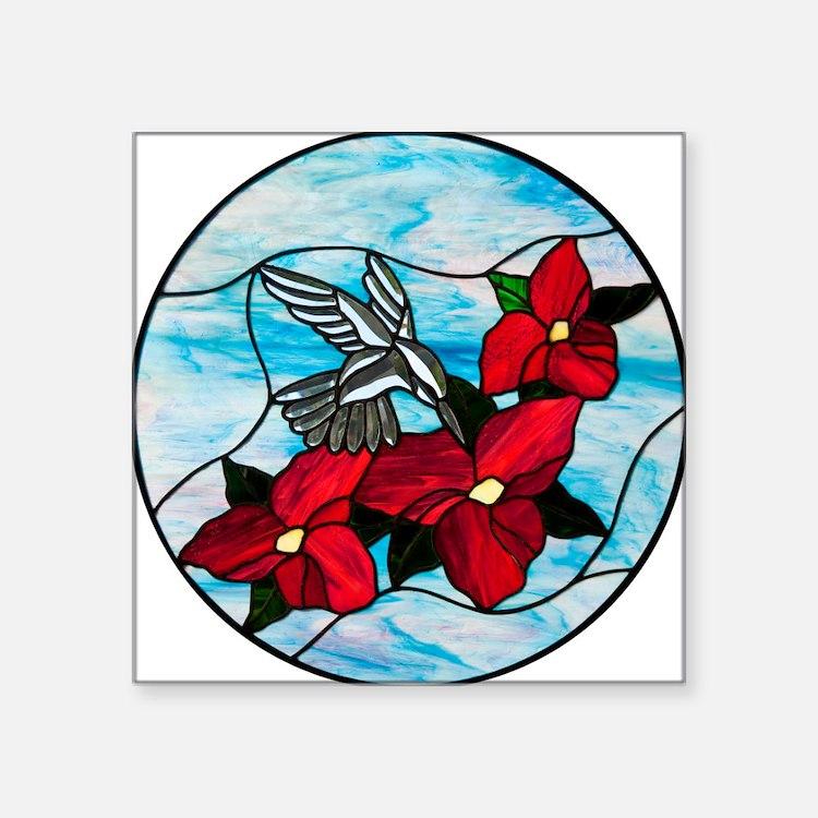 "hummingbird_VHQ Square Sticker 3"" x 3"""