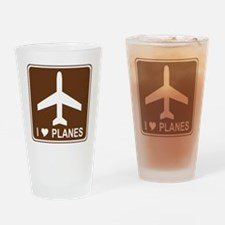 brown_airport_oddsign1 Drinking Glass