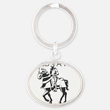 I-Need-A-Hero-Knight Oval Keychain