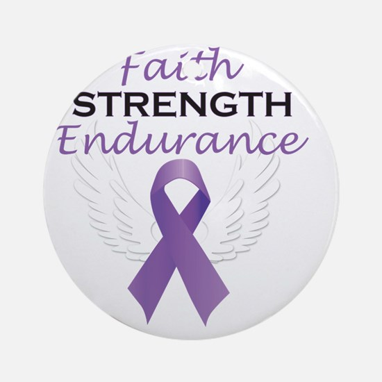 FaithStrengthEnduranceart Round Ornament