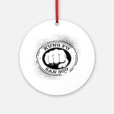 kung fu san soo 4 Round Ornament