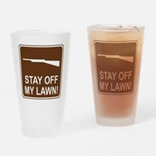 brown_firearms_permitted_oddsign1 Drinking Glass