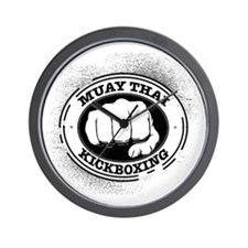 muay thai 3 Wall Clock
