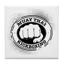 muay thai 3 Tile Coaster