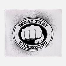 muay thai 3 Throw Blanket