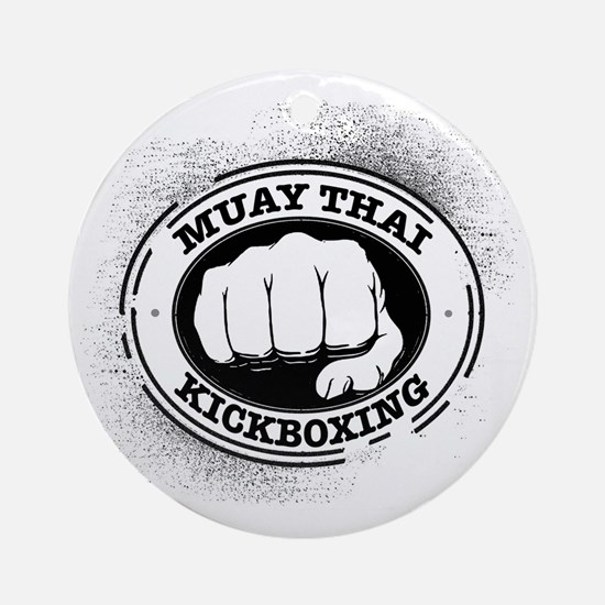 muay thai 3 Round Ornament