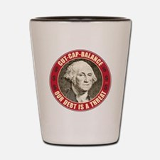 june11_our_debt_is_a_threat Shot Glass