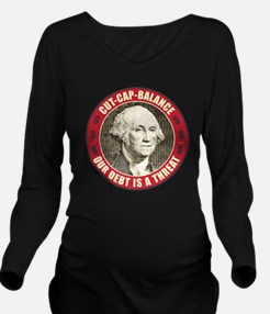 june11_our_debt_is_a Long Sleeve Maternity T-Shirt