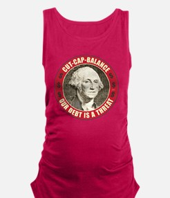june11_our_debt_is_a_threat Maternity Tank Top