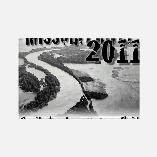 Missouri River 2011  Rectangle Magnet