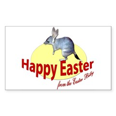 Easter Bilby Gifts, Rectangle Decal