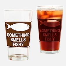 brown_fish_hatchery_oddsign1 Drinking Glass