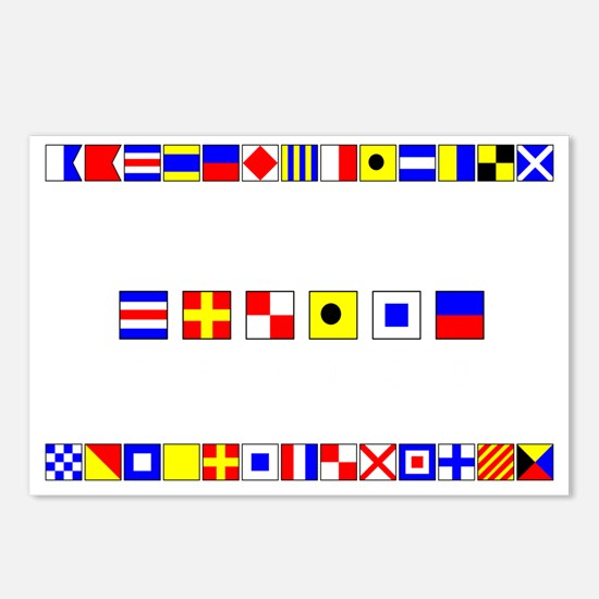 CRUISE-Signal-Flag Postcards (Package of 8)