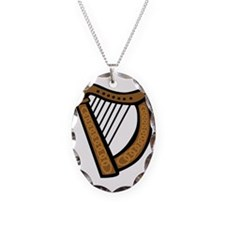 celtic_harp_coloring_book_colo Necklace Oval Charm