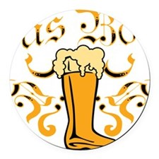 Das Boot Of Beer Round Car Magnet