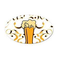 Das Boot Of Beer Oval Car Magnet