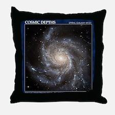 CD-TileBox-Spiral Galaxy M101 Throw Pillow