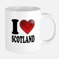 I Heart Scotland Mugs