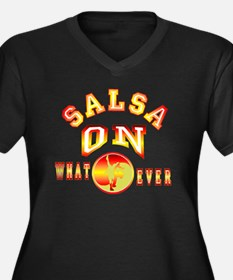 Salsa OnWhat Women's Plus Size Dark V-Neck T-Shirt