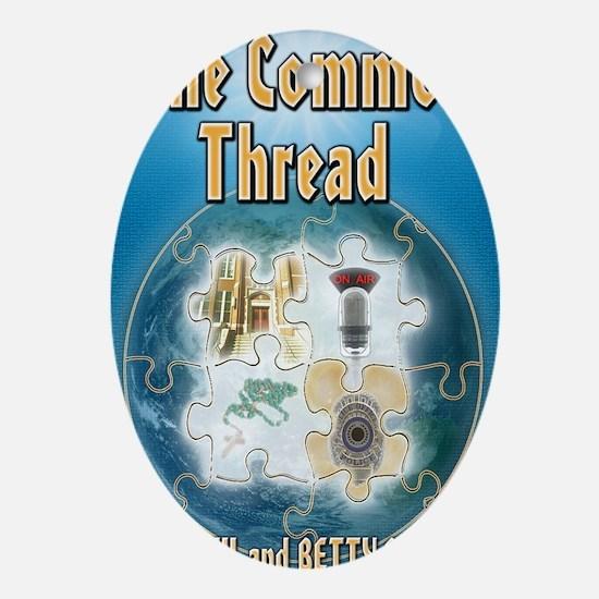 The Common Thread Oval Ornament