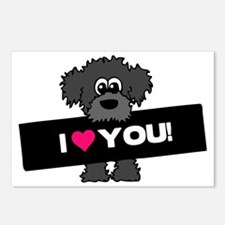 I love you Labradoodle Postcards (Package of 8)