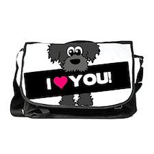 I love you Labradoodle Messenger Bag