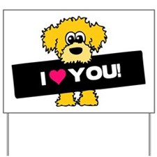 I love you Labradoodle Yard Sign