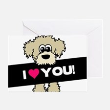 I love you Labradoodle Greeting Card