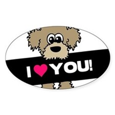 I love you Labradoodle Decal