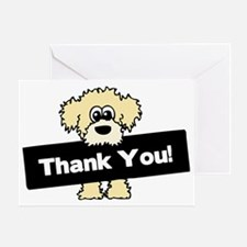 Thank You Labradoodle Greeting Card