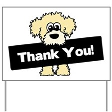 Thank You Labradoodle Yard Sign