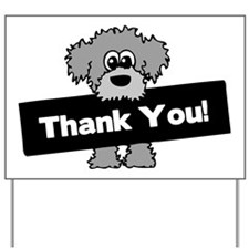 Labradoodle Thank You Yard Sign
