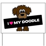 Chocolate labradoodle Yard Signs