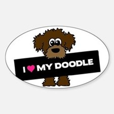 Love My Labradoodle Sticker (Oval)