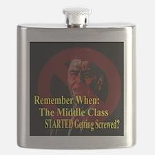 Reagan MiddleClass Screwed 2 Flask