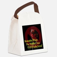 Reagan MiddleClass Screwed 2 Canvas Lunch Bag