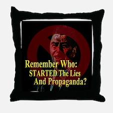 Reagan Started Propaganda2 Throw Pillow