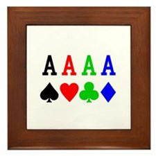 4 Aces Framed Tile