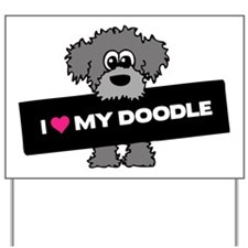 Love My Labradoodle Yard Sign