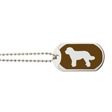 Brown Doodle Silhouette Dog Tags
