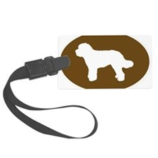 Brown Doodle Silhouette Luggage Tag