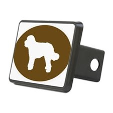 Brown Doodle Silhouette Hitch Cover
