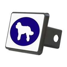 Blue Doodle Silhouette Hitch Cover