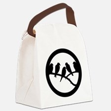 bird badge Canvas Lunch Bag